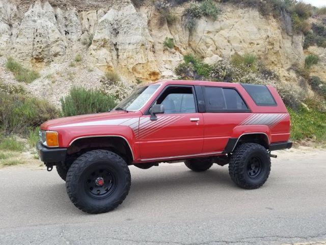 1988 toyota 4runner 4x4 sr5 6cyl 100 rust free original paint california truck for sale. Black Bedroom Furniture Sets. Home Design Ideas