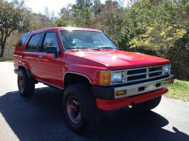 1988 toyota 4runner sr5 v6 4x4 5 speed 1 owner for sale toyota 4runner sr5 v6 5 speed manual 1987 Toyota Pickup 1987 Toyota Pickup
