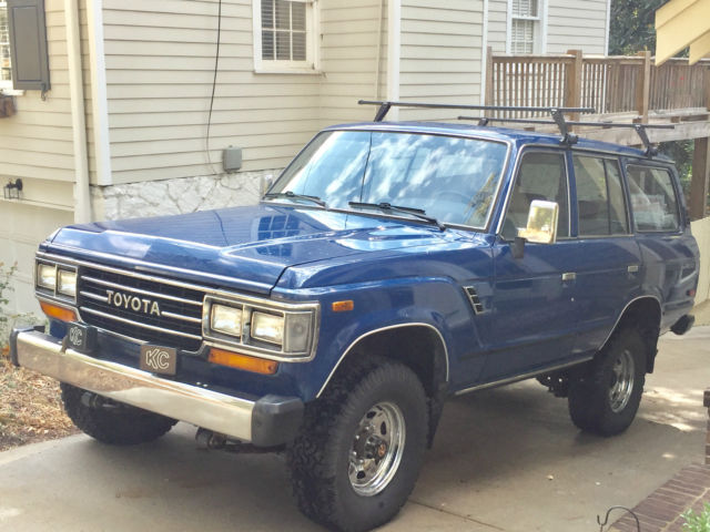 1988 toyota land cruiser fj62 4x4 rare blue only 134k miles for sale toyota land cruiser. Black Bedroom Furniture Sets. Home Design Ideas