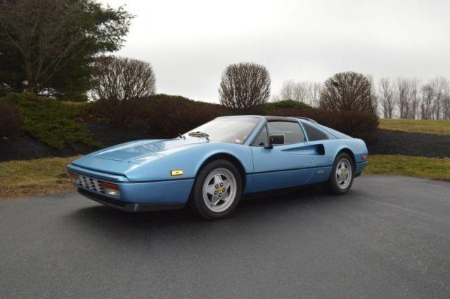 1989 328 Gts Rare Azzurro Metallic Crema 10k Miles On