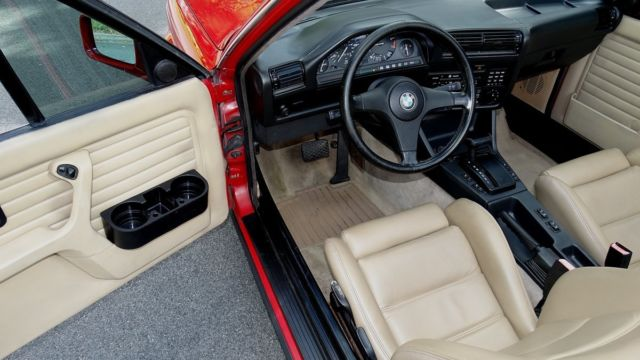 1989 bmw 325i convertible red tan interior black top super nice inside an out for sale bmw 3. Black Bedroom Furniture Sets. Home Design Ideas