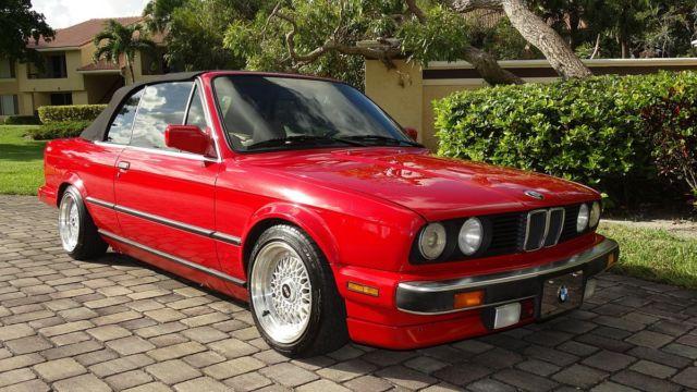 Bmw 325i For Sale >> 1989 BMW 325i CONVERTIBLE RED/TAN INTERIOR BLACK TOP SUPER ...