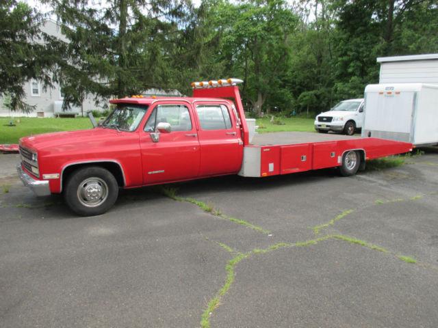 1989 chevrolet 3500 crew cab silverado ramp truck flatbed car hauler hodges for sale chevrolet. Black Bedroom Furniture Sets. Home Design Ideas