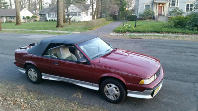 1989 Chevrolet Cavalier Z24 Convertible Red Ful Chevy Collectible Car
