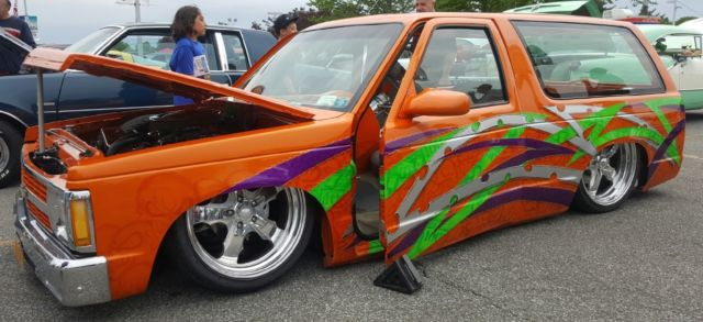 1989 chevy s10 blazer custom street show truck hot rod lowrider bagged slammed for sale. Black Bedroom Furniture Sets. Home Design Ideas