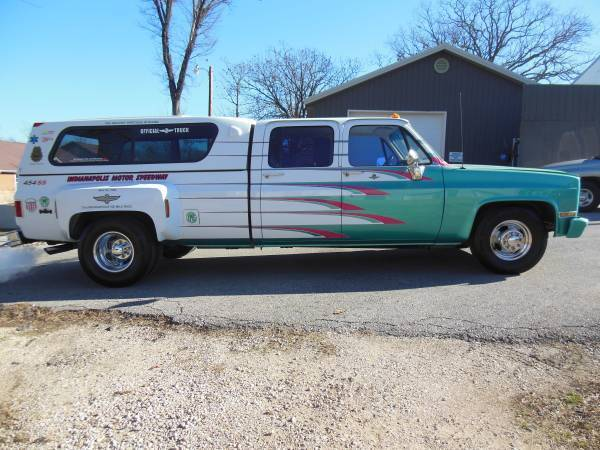 1989 chevy silverado 3500 dually crewcab 73rd indy 500 safety truck one of one for sale. Black Bedroom Furniture Sets. Home Design Ideas