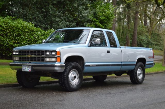 1989 CHEVY SILVERADO K2500 EXTENDED CAB 4X4 LONG BED 5.7 V8 ONLY 45,169 MILES!!! for sale ...