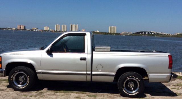 1989 Chevy Silverado Truck Silver For Sale Chevrolet C K Pickup 1500 C1500 1989 For Sale In