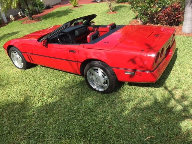 sale chevrolet corvette red red 1989 for sale in delray beach. Cars Review. Best American Auto & Cars Review