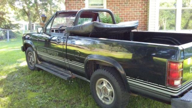 1989 dodge dakota sport convertible rag top for sale dodge other pickups 1989 for sale in. Black Bedroom Furniture Sets. Home Design Ideas