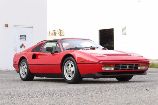 1989 Ferrari 328 Gts In Rosso Corsa 20 453 Miles Recent