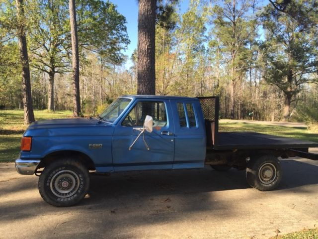 1989 Ford F250 F250 F 250 4wd 4x4 Flatbed Extended Cab Pickup Pick Up Truck For Sale Ford F
