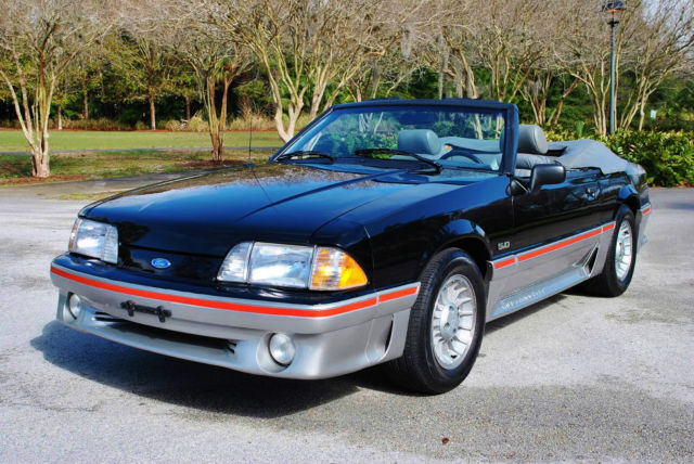 1989 ford mustang gt 5 0 ho convertible 58 625 original miles simply stunning for sale ford. Black Bedroom Furniture Sets. Home Design Ideas