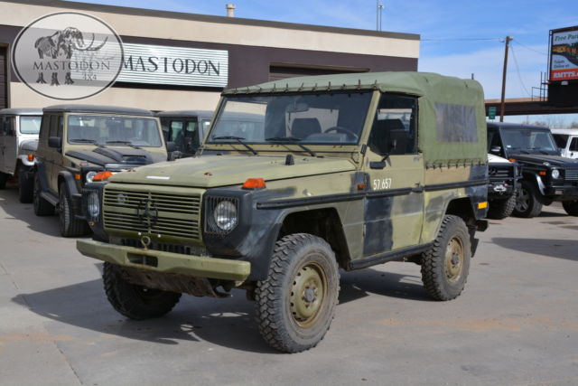 1989 green 4x4 diesel manual 4x4 240gd g wagon mastodon military for sale mercedes benz g. Black Bedroom Furniture Sets. Home Design Ideas