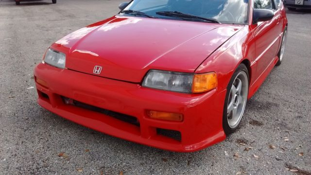 1989 HONDA CRX SI B16A VTEC SWAP 5 SPEED MANUAL TRANSMISSION JDM RIO RED CLEAN for sale - Honda ...