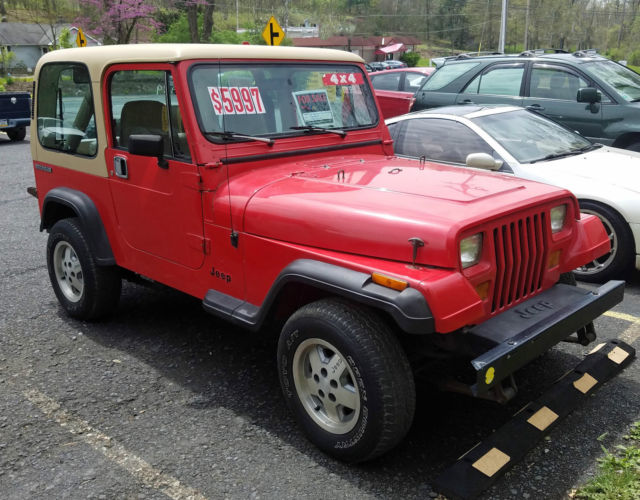1989 Jeep Wrangler only 94,550 miles 2-Door 4.0L Automatic ...