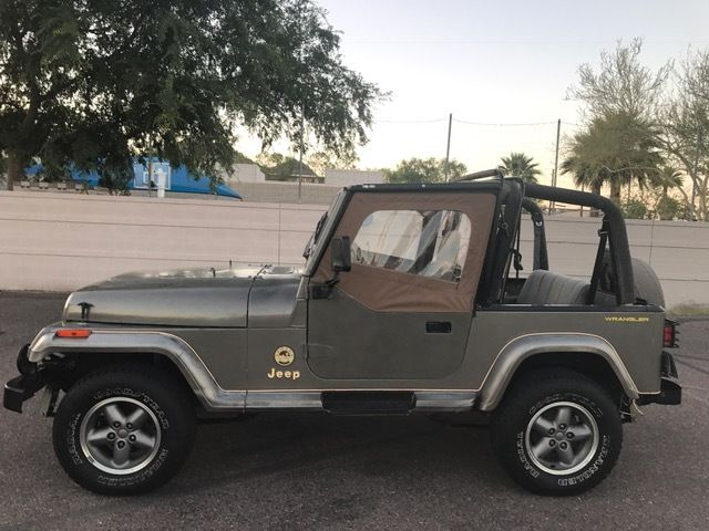 1989 jeep wrangler sahara 4 2l 4x4 rust free az yj for sale jeep wrangler 1989 for sale in. Black Bedroom Furniture Sets. Home Design Ideas