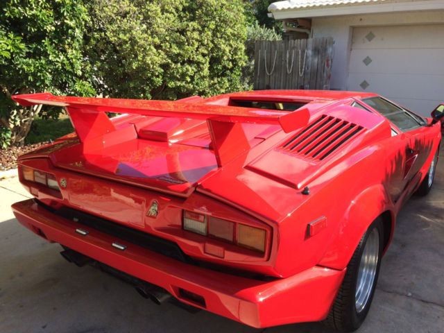 1989 lamborghini countach 25 silver aniversary edition for sale lamborghini. Black Bedroom Furniture Sets. Home Design Ideas