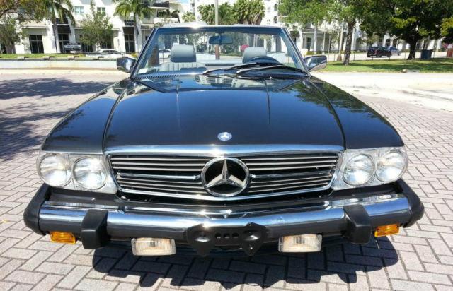 1989 Mercedes Benz 560sl Black Pearl Mettalic Over Grey
