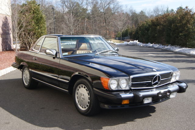 1989 Mercedes Benz 560sl One Family Owned Black Over