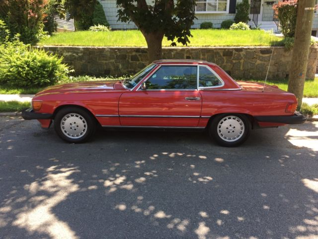 1989 red hard top convertible mercedes benz 560sl only for Hardtop convertible mercedes benz