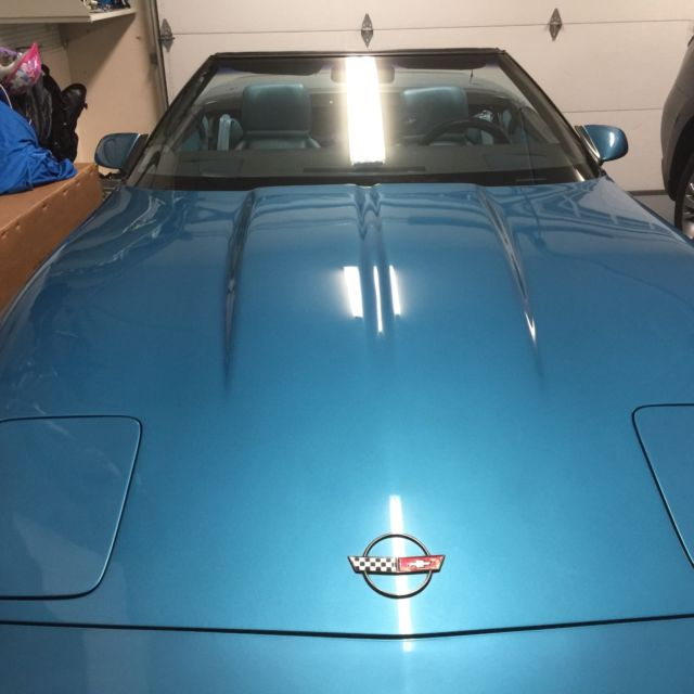 1995 Chevrolet Corvette Interior: 1989 SUPERCHARGED Nassau Blue Corvette Convertible