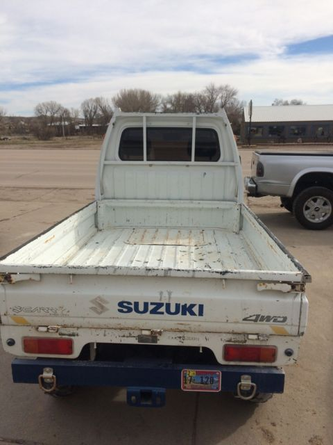 1989 suzuki mini truck 660 4wheel drive 4x4 axle lock white atv utv offroad for sale suzuki. Black Bedroom Furniture Sets. Home Design Ideas