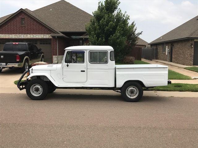 1989 white 4x4 pickup truck fj land cruiser fj40 fj45 hj45 diesel for sale toyota land. Black Bedroom Furniture Sets. Home Design Ideas