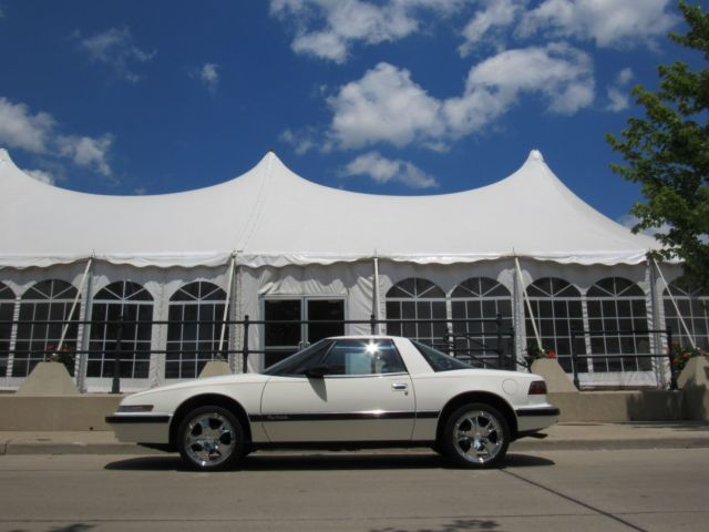 1990 Buick Reatta Cold A C White With Burgandy Leather