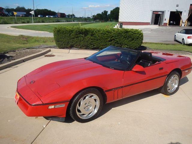 1990 C4 Red Corvette Convertible For Sale Chevrolet Corvette 1990 For Sale In Willowbrook