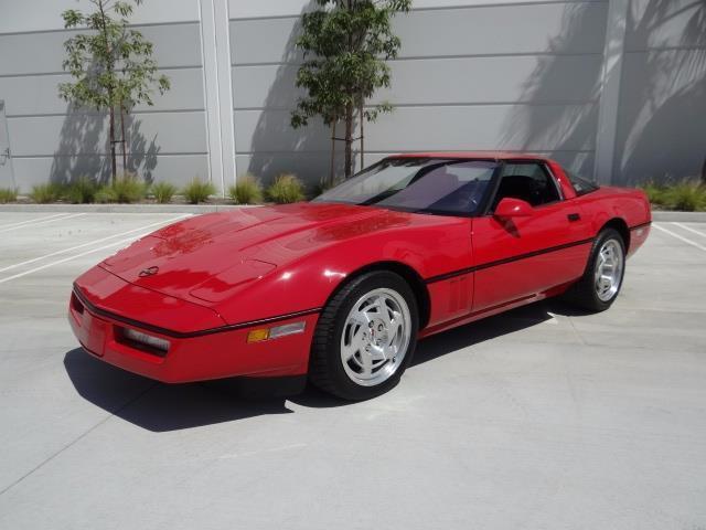 1990 chevrolet corvette 15310 miles red 8 cylinder engine 5 7l 350 6 speed man for sale. Black Bedroom Furniture Sets. Home Design Ideas