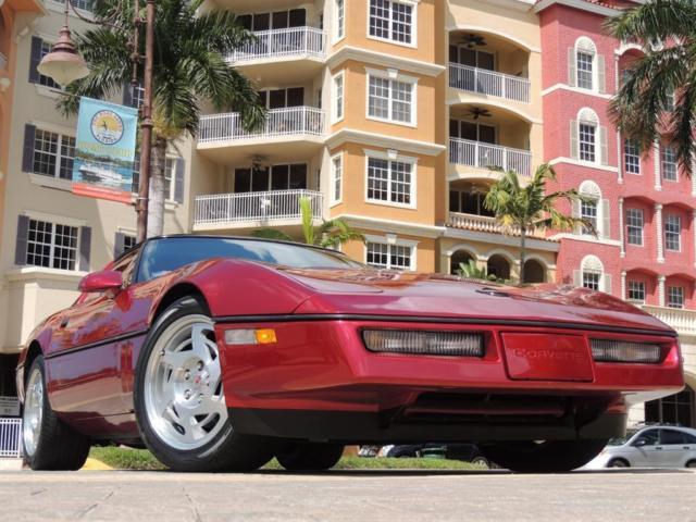 1990 chevrolet corvette coupe 1 owner florida garage kept car with windowsticker for sale. Black Bedroom Furniture Sets. Home Design Ideas