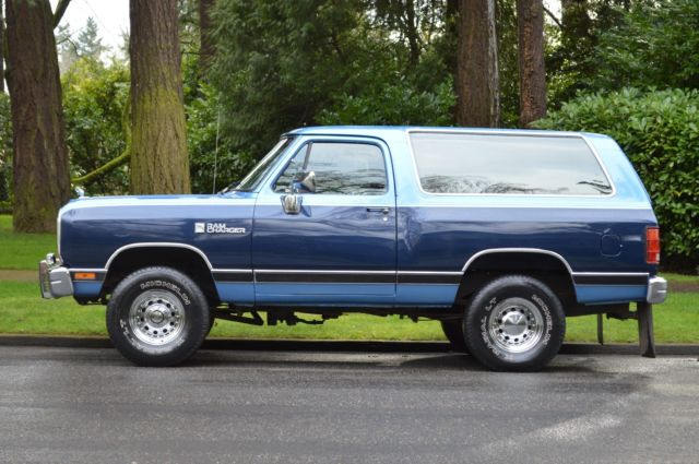 1990 Dodge Ramcharger 4x4 Full Size Suv 5 2 L V8 Only 44 099 Original Miles For Sale Dodge Ramcharger Dodge Ram 4x4 V8 Suv Bronco Blazer Other 1990 For Sale In Clackamas Oregon United States