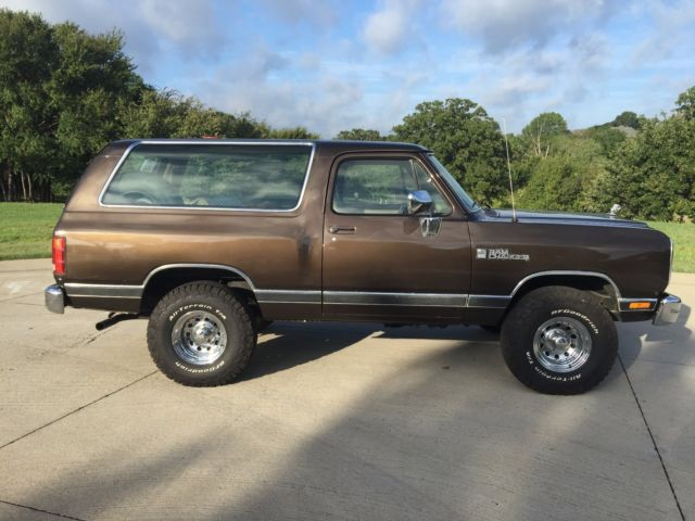 1990 Dodge Ramcharger Ram Charger 71K miles 2 owner for sale - Dodge Ramcharger 1990 for sale in ...