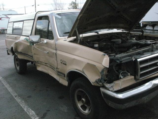1990 ford f 150 xlt lariat standard cab pickup 2 door 5 0l v 8 for parts only for sale ford. Black Bedroom Furniture Sets. Home Design Ideas