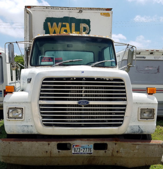 1990 ford l8000 24 39 foot diesel box truck 6 speed manual trans for sale ford l8000 1990 for. Black Bedroom Furniture Sets. Home Design Ideas