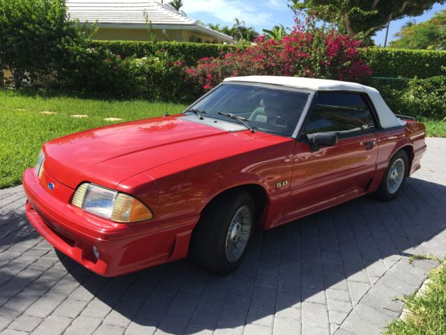 1990 ford mustang 5 0gt convertible for sale ford mustang 1990 for sale in lake worth. Black Bedroom Furniture Sets. Home Design Ideas