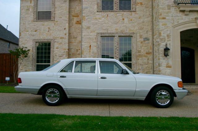 1990 mercedes 560 sel flagship white tan 101k miles for Mercedes benz flagship car