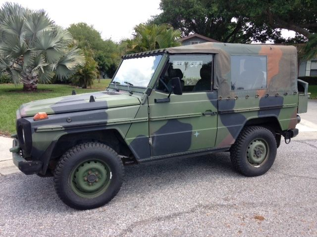 "Used Cars For Sale Germany Military: 1990 Mercedes-Benz 250GD ""Wolf"" 2,5L, Diesel, Bundeswehr"