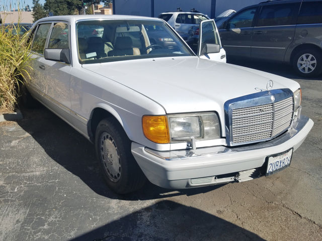 1990 mercedes benz 560sel non running rust free parts car for Mercedes benz redwood city