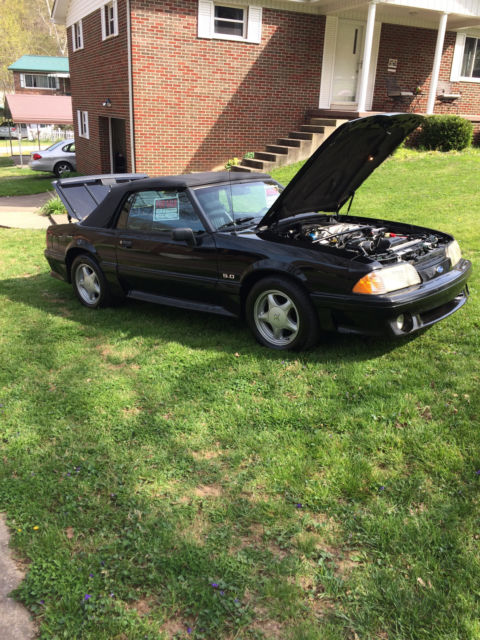 1990 mustang gt convertble triple black for sale ford mustang convertible 1990 for sale in. Black Bedroom Furniture Sets. Home Design Ideas