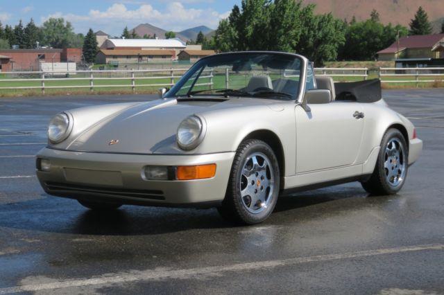 1990 porsche 911 c4 cabriolet manual transmission low miles of 56 249 no rust for sale. Black Bedroom Furniture Sets. Home Design Ideas