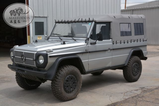1990 silver g wagon g class g series g300 diesel manual cabrio soft top for sale mercedes benz. Black Bedroom Furniture Sets. Home Design Ideas