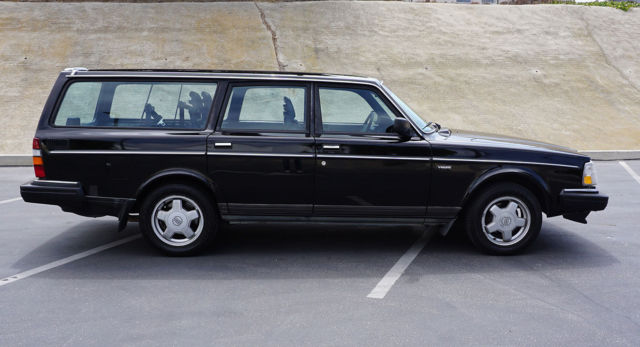 1990 volvo 240dl black manual wagon for sale volvo 240 1990 for sale in venice california. Black Bedroom Furniture Sets. Home Design Ideas