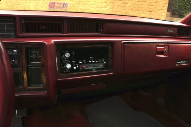 1991 Cadillac Deville Burgundy Red Sedan 4 Door Leather Interior 128468 Miles For Sale