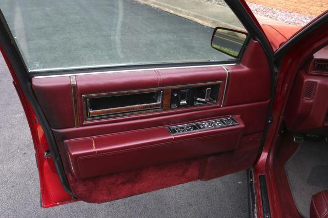 1991 cadillac deville burgundy red sedan 4 door leather interior 128468 miles for sale. Black Bedroom Furniture Sets. Home Design Ideas