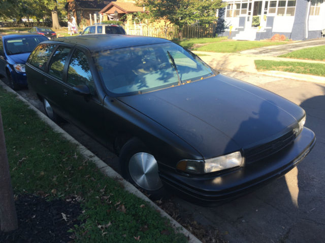1991 chevy caprice wagon with 1996 lt1 engine new matte black paint