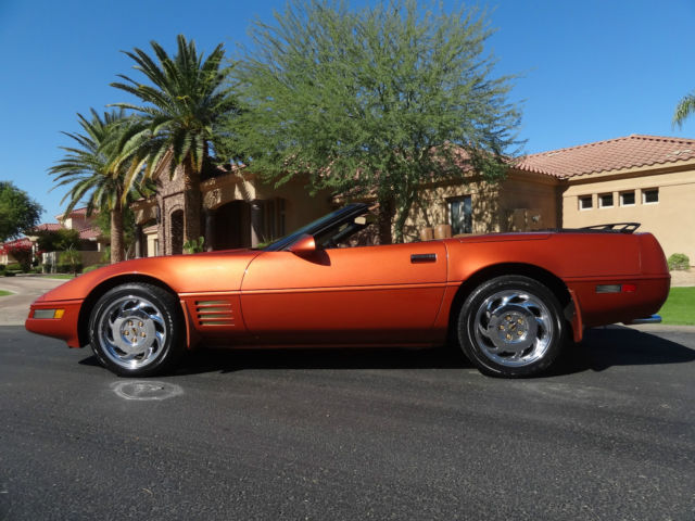 1991 Chevy Corvette C4 Convertible Daytona Orange Metallic