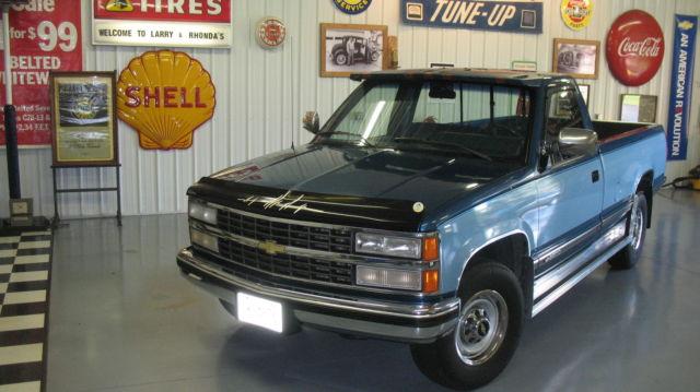 1991 CHEVY PICKUP RUST FREE 2500 454 ENGINE 7 4 2-TONE BLUE