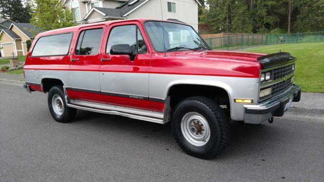 1991 chevy suburban 2500 4x4 silverado 5 7 101k miles rust. Black Bedroom Furniture Sets. Home Design Ideas